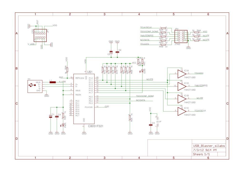 Schéma USB Blaster V3.10